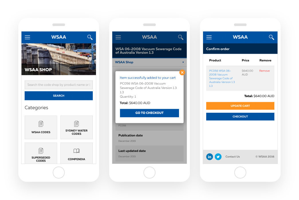 WSAA - B2B ecommerce for digital downloads